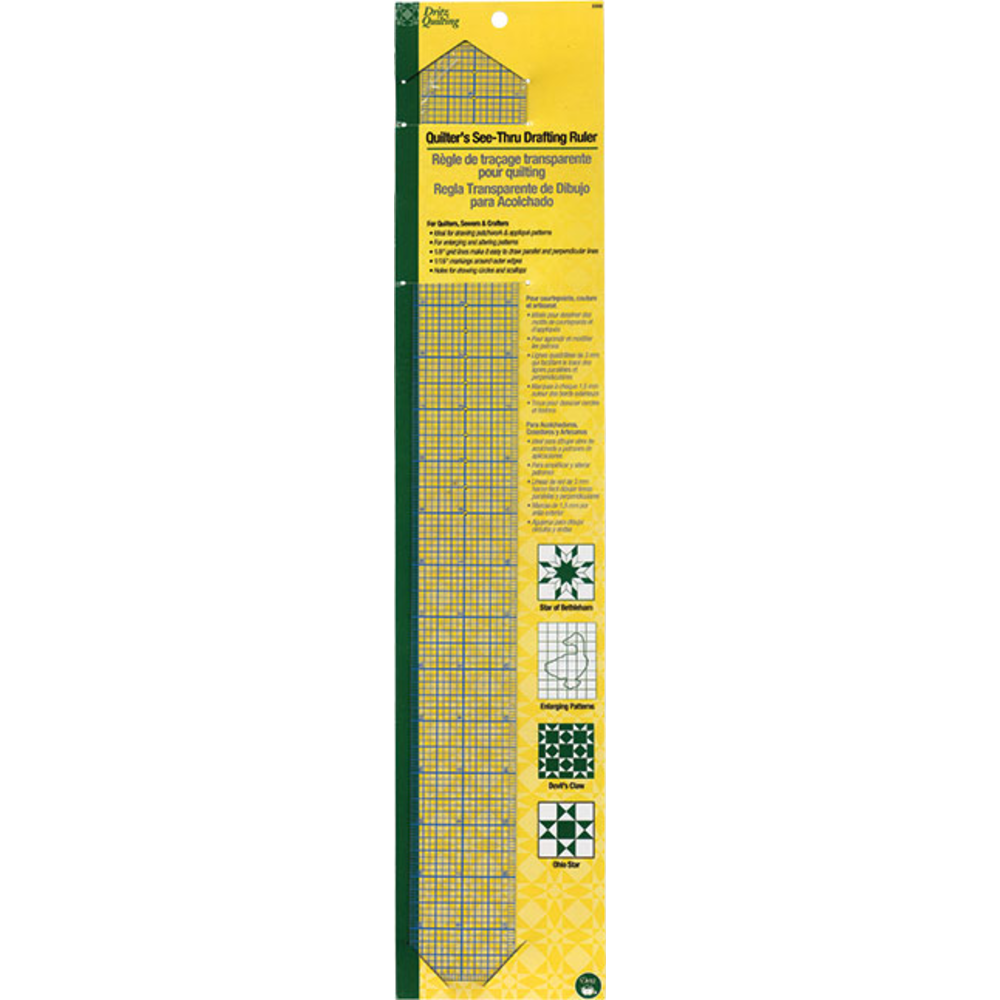 Quilter's See-Thru Drafting Ruler