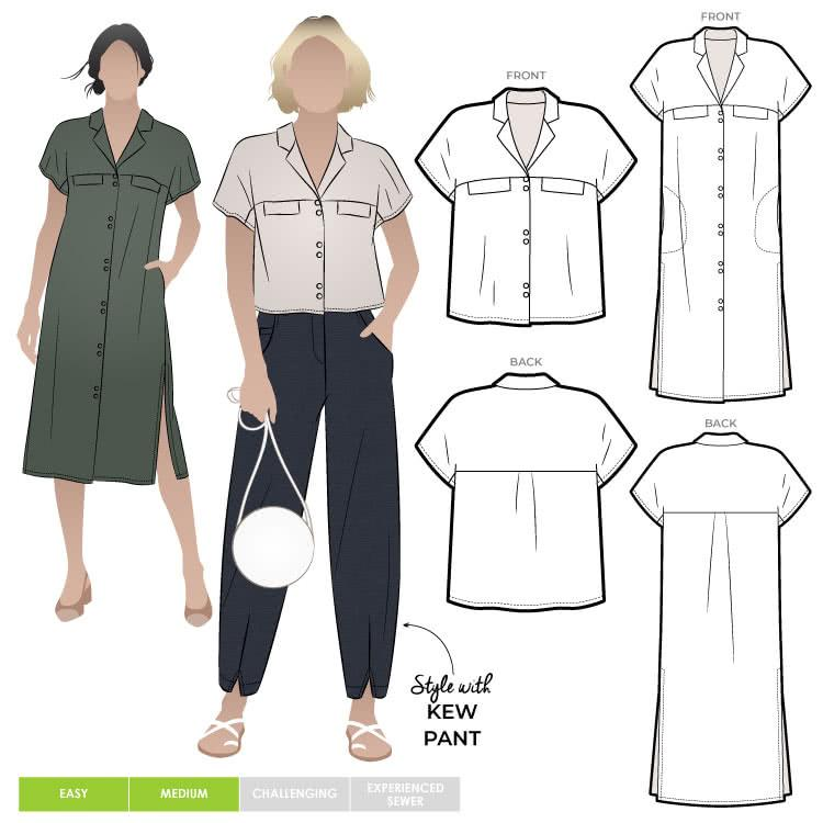 Style Arc - Monty Shirt & Dress