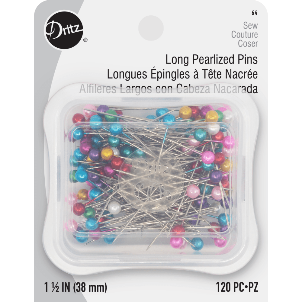 "Dritz - Long Pearlized Pins - 1 1/2"" - 120 pc."