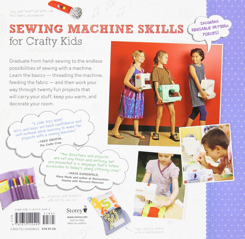 Sewing School 2: Lessons in Machine Sewing; 20 Projects Kids Will Love to Make - Andria Lisle