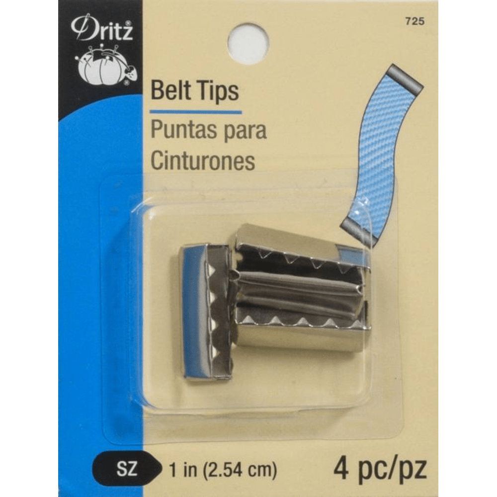 Dritz - Belt Tips - Nickel - 4 pc.