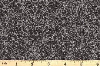 Riley Blake and Liberty Fabrics - The Emporium Collection - Turner - Charcoal