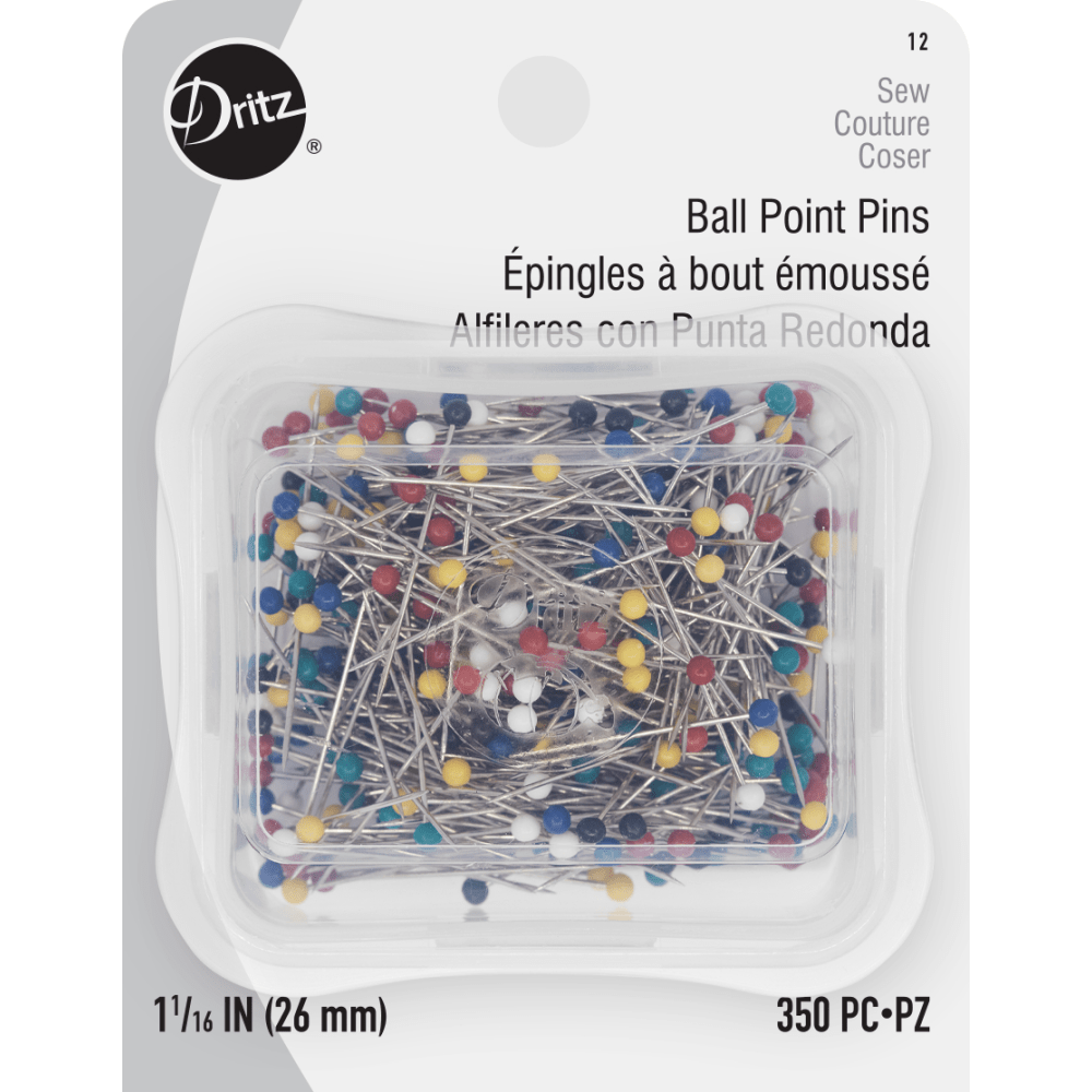 "Dritz - Ball Point Pins - 350 count - 1 1/16"" / 26mm"
