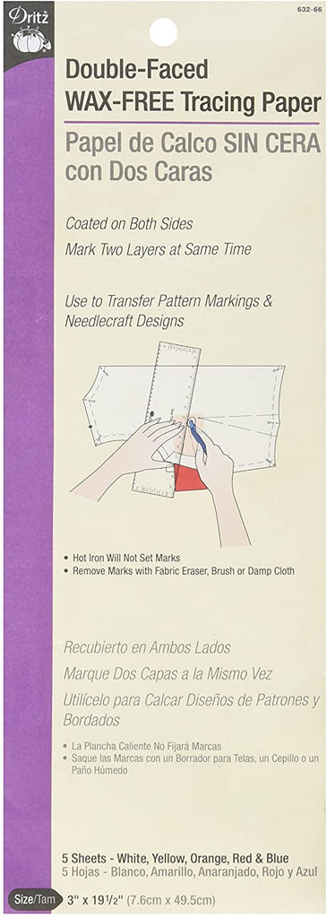 Dritz - Double-Faced Wax-Free Tracing Paper