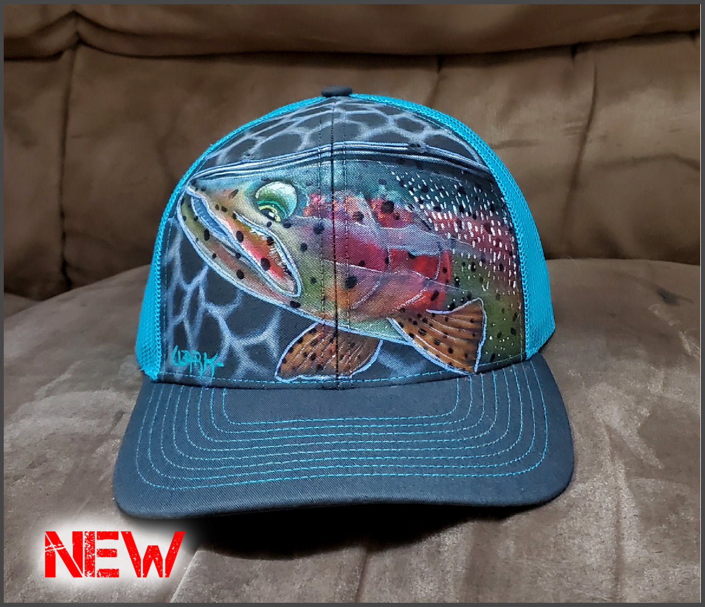 Wet Dreams Trout - Richardson Adjustable Mesh Snapback