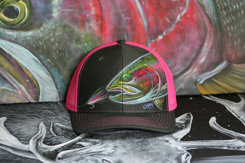 Richardson Snapback Electric Pink- Bucktail Slam Trout