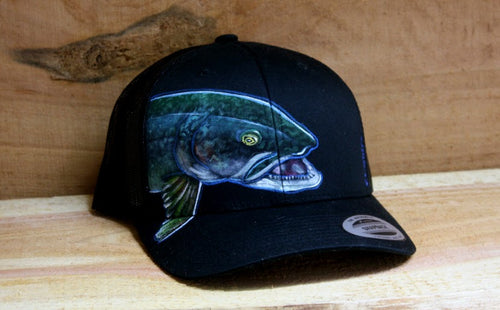 Black Yupoong Snapback- Lake trout