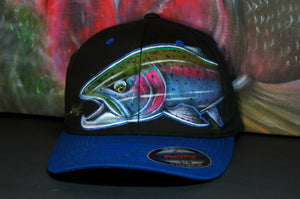 Rainbow Trout- Leech slam (S-M Flexfit Fitted black and blue)