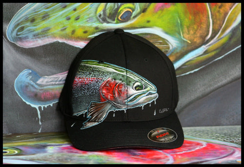 L-XL Flexfit Black- Steelhead Dreams