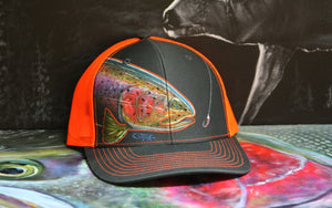 Richardson Snapback Electric Orange- Rainbow trout