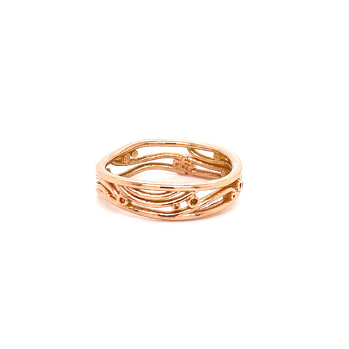 18k Rose Gold Klimt Band