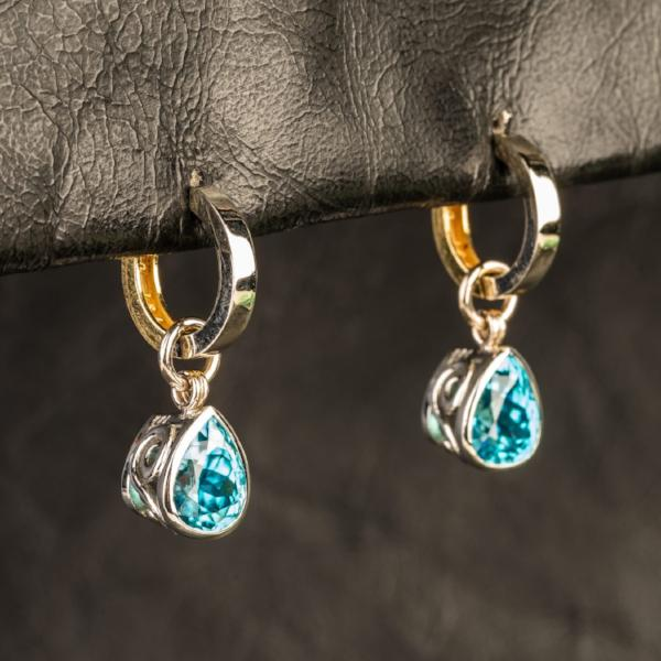 Custom Jewelry, earrings, hoops, yellow and white gold, llyn strong, Greenville, South Carolina