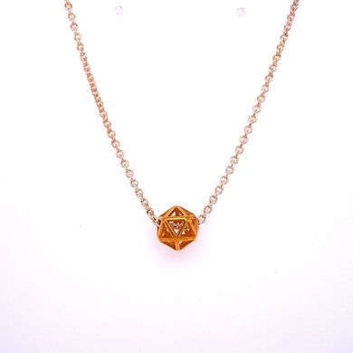 Custom Jewelry, 14k petite isohedron necklace, Erin Stuart, Greenville, South Carolina