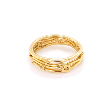 Custom jewelry, 18k yellow gold klimt band, llyn strong, Greenville, South Carolina