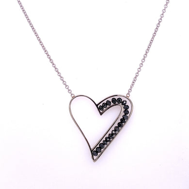 Custom Jewelry, black diamond heart necklace, Sydney Strong, Greenville, South Carolina