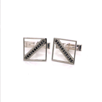 Custom Jewelry, Black diamond cufflinks, Sydney Strong, Greenville, South Carolina