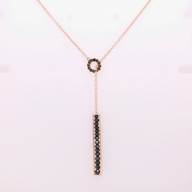 Custom Jewelry, Black diamond lariat necklace, Sydney Strong, Greenville, South Carolina