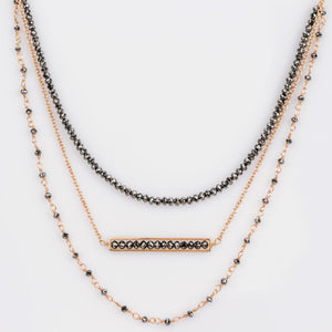 Custom Jewelry, black diamond triple necklace, Sydney Strong, Greenville, South Carolina