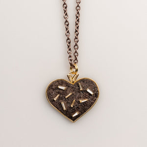 Custom jewelry, Confetti Heart, llyn strong, Greenville, South Carolina
