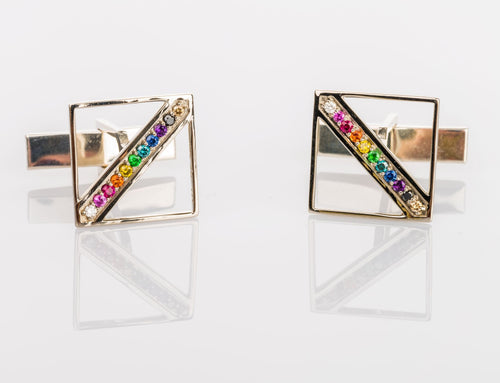 Custom Jewelry, Equality Cufflinks, Sydney Strong, Greenville, South Carolina