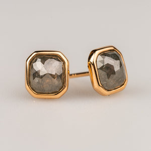 Custom Jewelry, grey diamond rose cut studs, Sydney Strong, Greenville, South Carolina