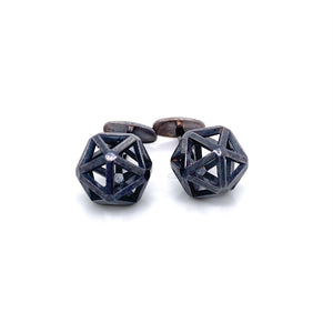 Custom Jewelry, Isohedron Cufflinks, Erin Stuart, Greenville, South Carolina
