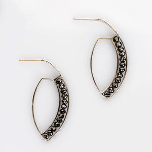 Custom Jewelry, black diamond marquise hoops, sydney strong, greenville, south carolina
