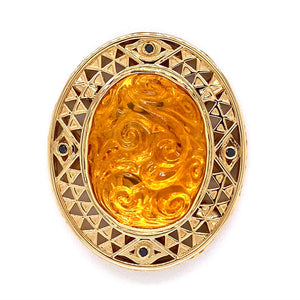 Custom jewelry, Citrine klimt clasp, llyn strong, Greenville, South Carolina