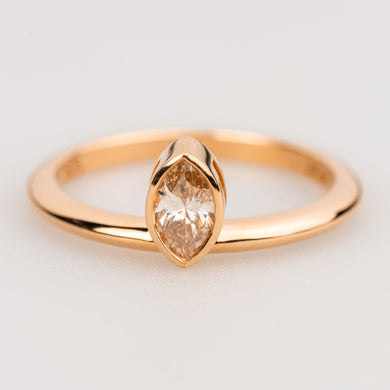 Custom Jewelry, Marquise champagne diamond ring, Sydney Strong, Greenville, South Carolina