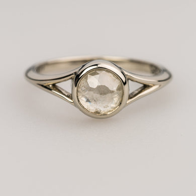 Custom Jewelry, Grey Diamond Round Rose cut ring, Sydney Strong, Greenville, South Carolina