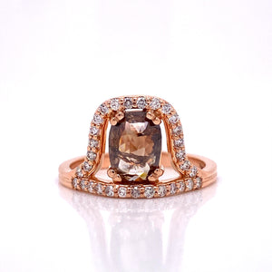 Custom Jewelry, offset cognac diamond ring, llyn strong, Greenville, South Carolina