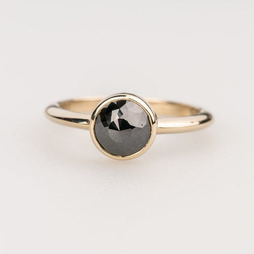 Custom Jewelry, Black diamond rose cut ring, Sydney Strong, Greenville, South Carolina