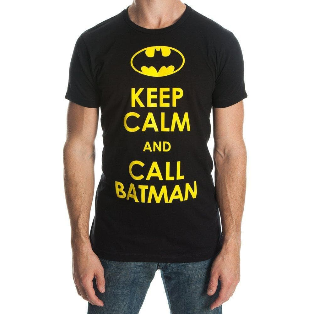 DC Comics Batman Keep Calm And Call Batman T-shirt Tops - Omni Geek