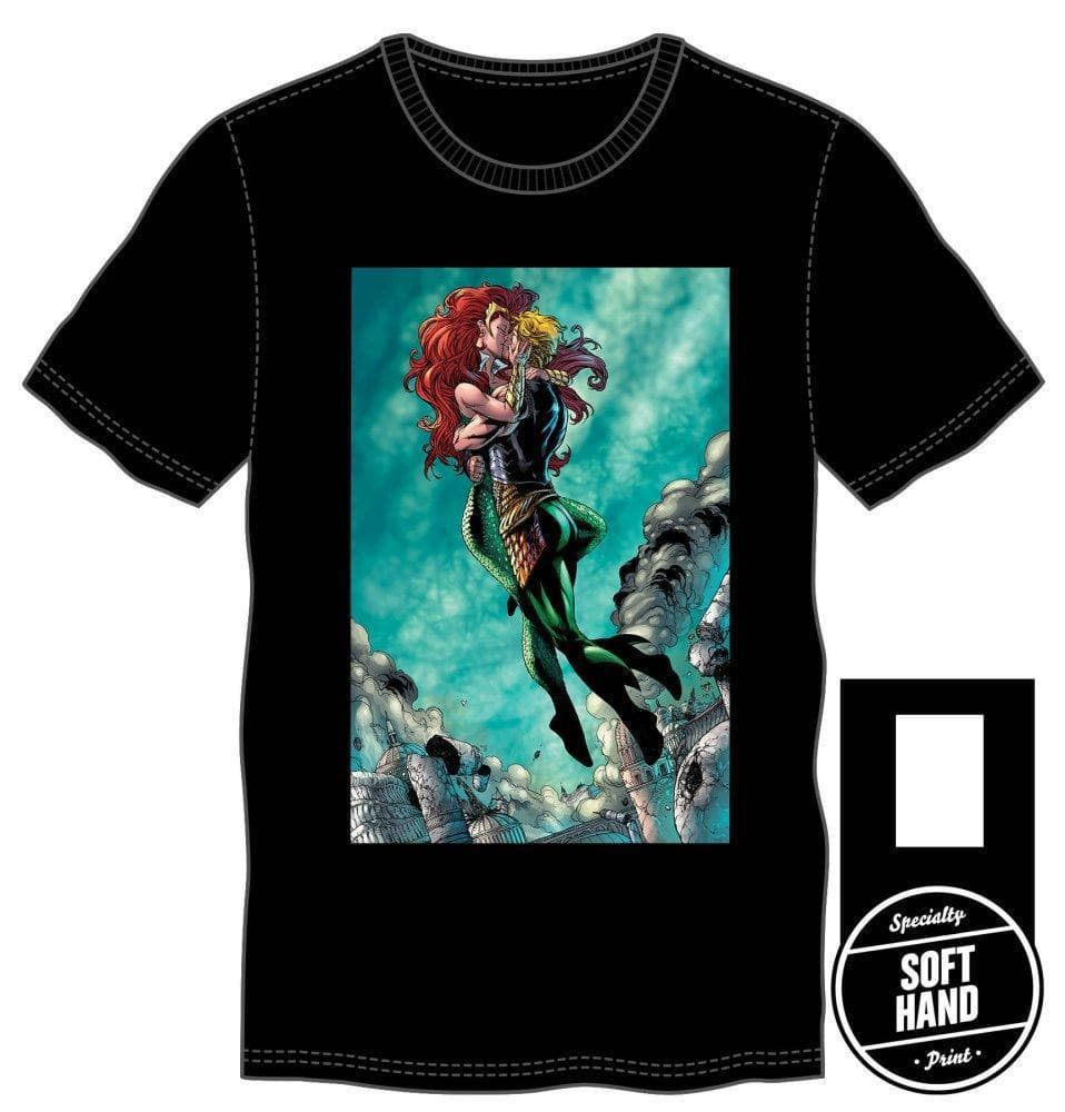 DC Comics Aquaman Mera Embrace T-Shirt Tops - Omni Geek
