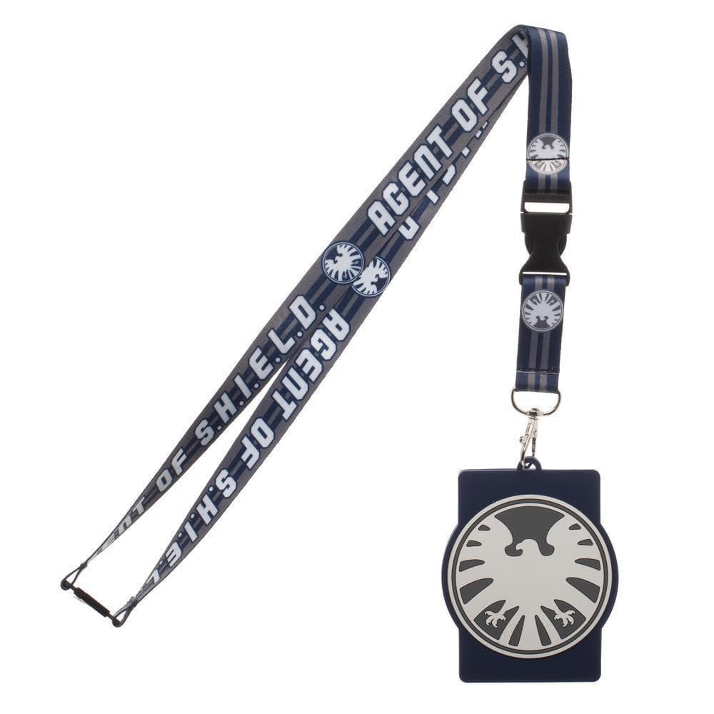 Marvel Agents of Shield Lanyard with Rubber ID Holder Accessories - Omni Geek