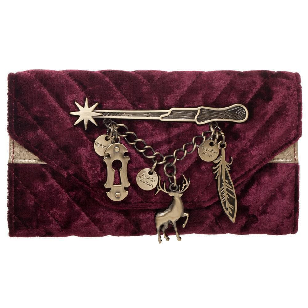 Harry Potter Spells Velvet Girls Wallet Accessories - Omni Geek