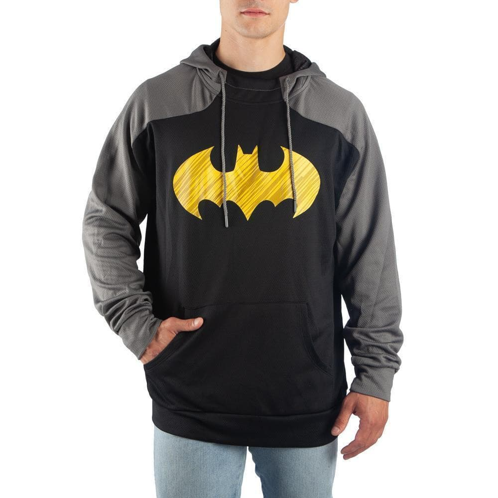DC Comics Batman Black Grey and Yellow Hoodie Outerwear - Omni Geek