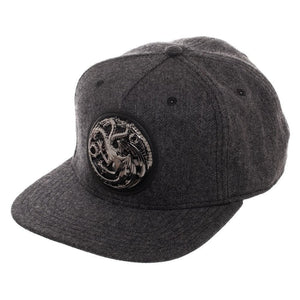 Game Of Thrones House Targaryen Harringbone Snapback Hat Accessories - Omni Geek
