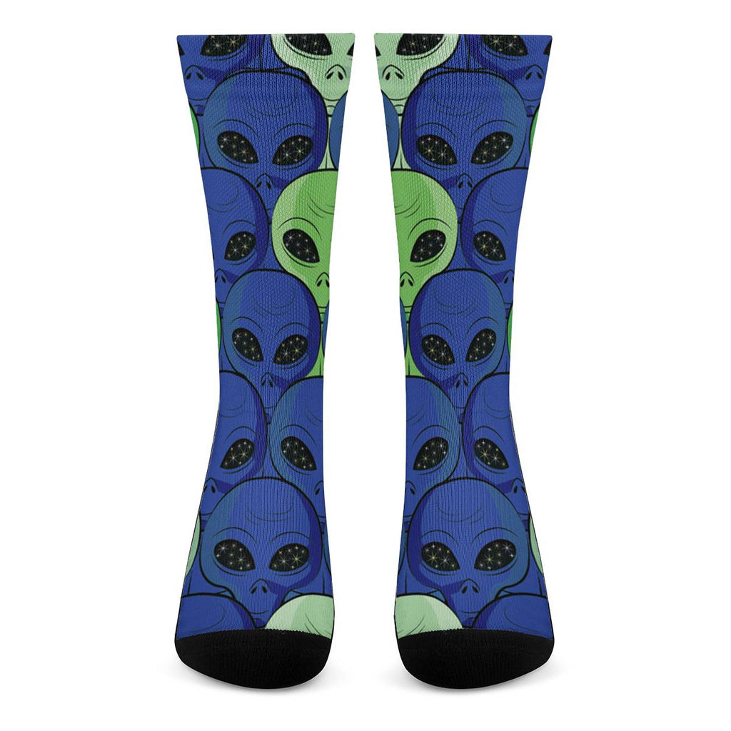 Spaced Out - Crew Socks Accessories - Omni Geek