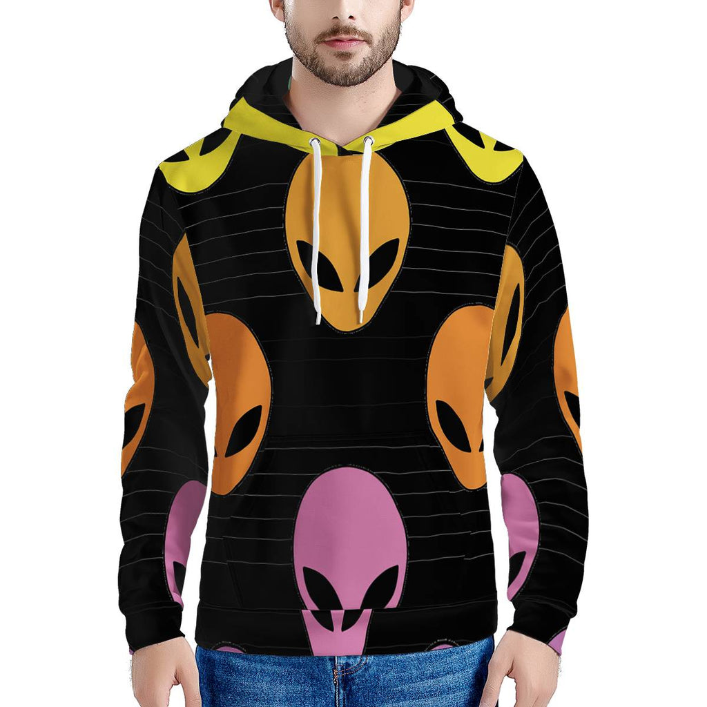 Alien Invasion - Men's All Over Print Hoodie Outerwear - Omni Geek