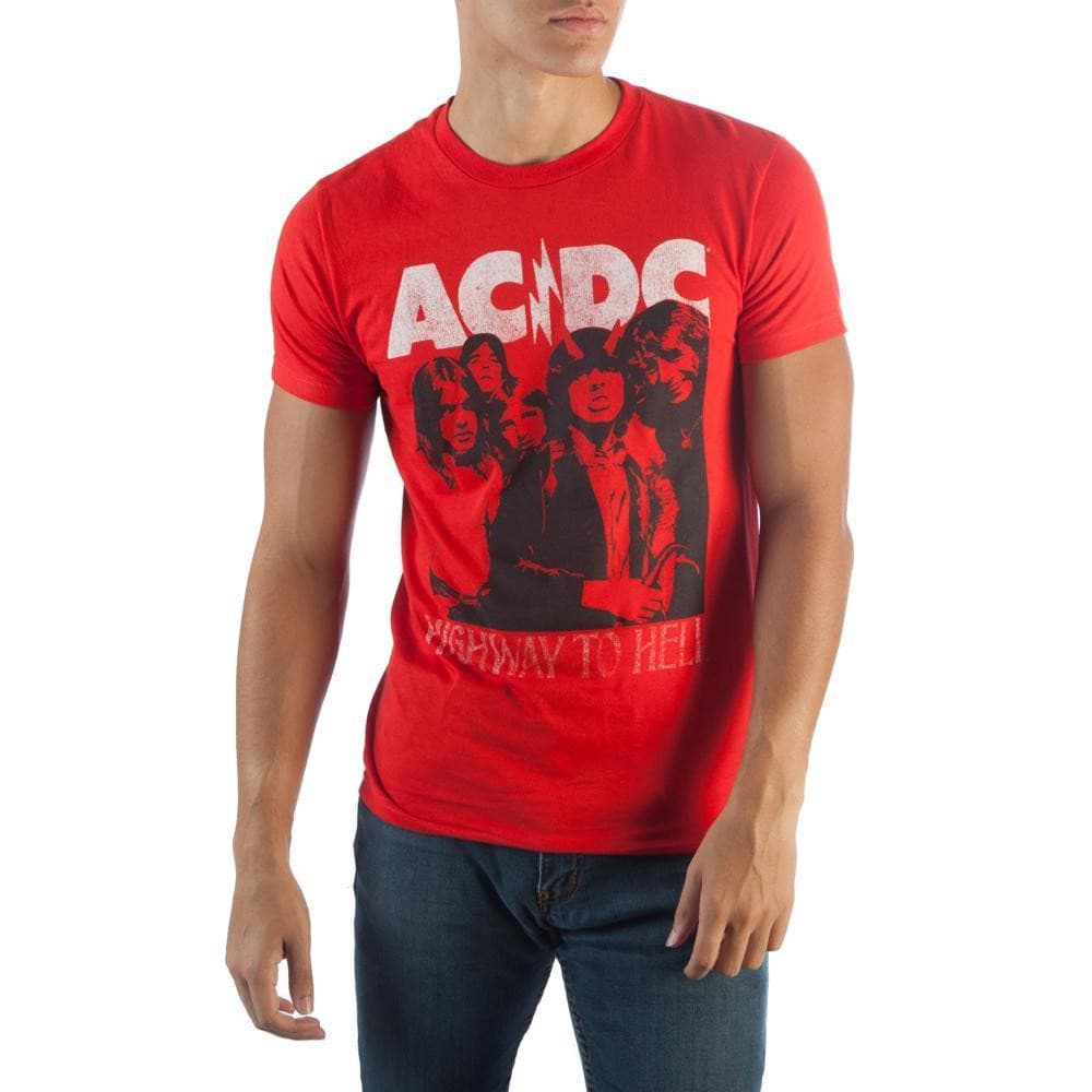 AC/DC Highway To Hell Group Photo T-Shirt Tops - Omni Geek