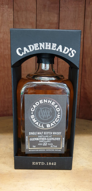 Glenrothes 'Cadenhead' 1996 / 22 years old 49.7% 700ml-Scottish Single Malts Speyside-Eight PM