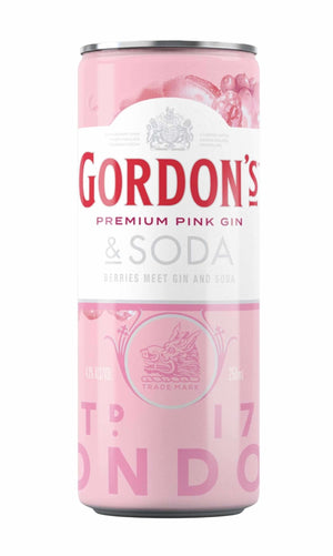 Gordons Pink Gin & Soda 250ml Cans x 24rtdEight PM