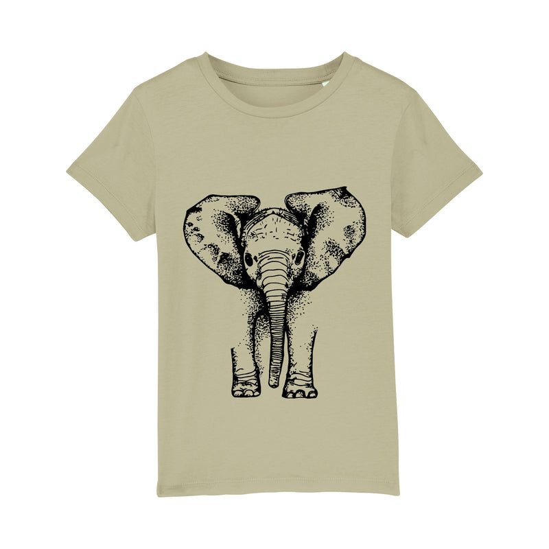 Kids Elephant T-Shirt | Sage Black