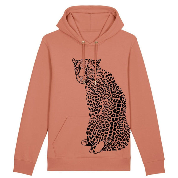 Fauna Adult Leopard Hoodie Rose Clay