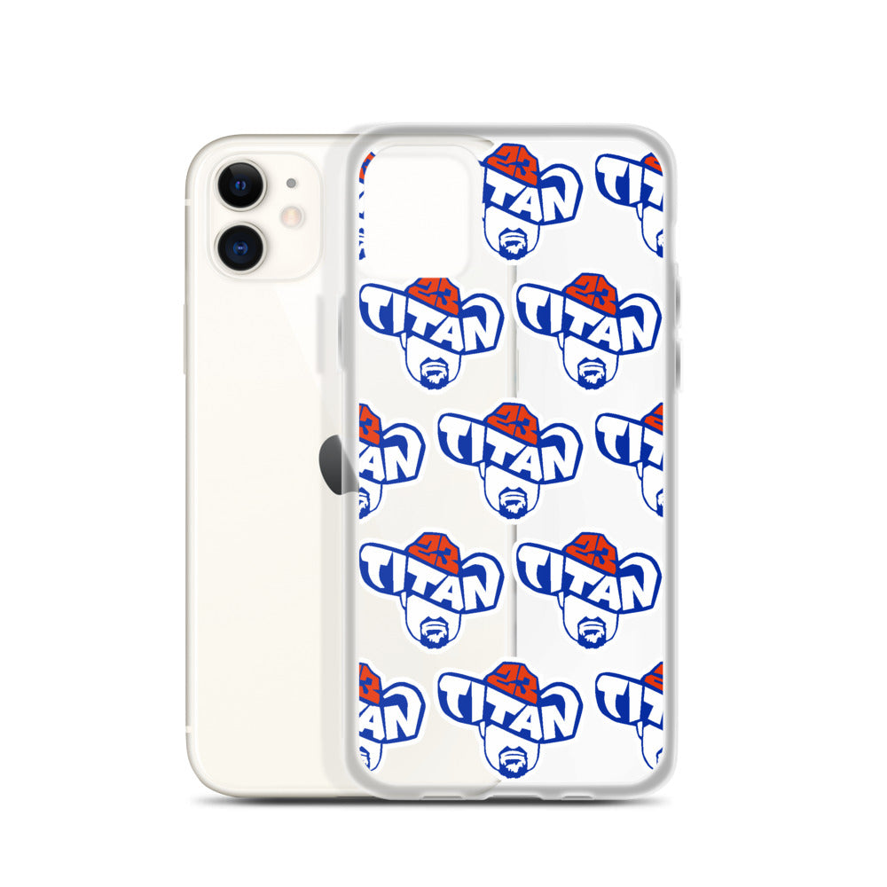Titan23 Logo Pattern iPhone Case