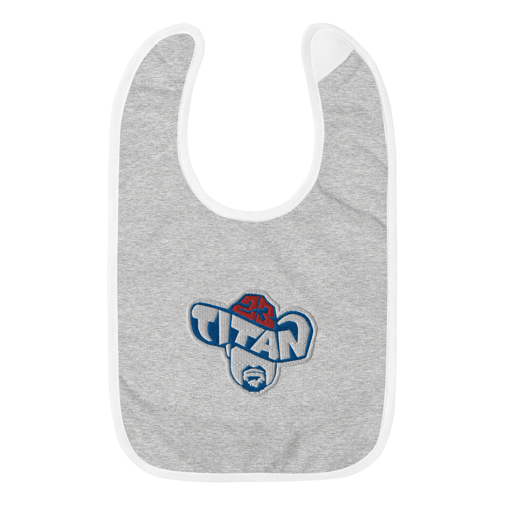 Titan23 Embroidered Baby Bib