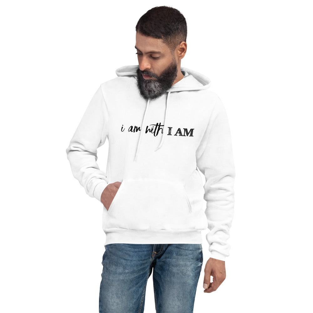 White - I Am With I Am Unisex Hoodie