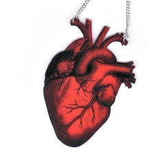 Paraphernalia - Anatomica Red Heart Necklace :  necklace anatomatical heart paraphernalia