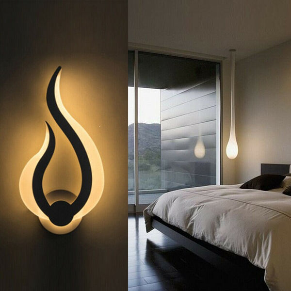 Flammen-Design LED Wandlampe